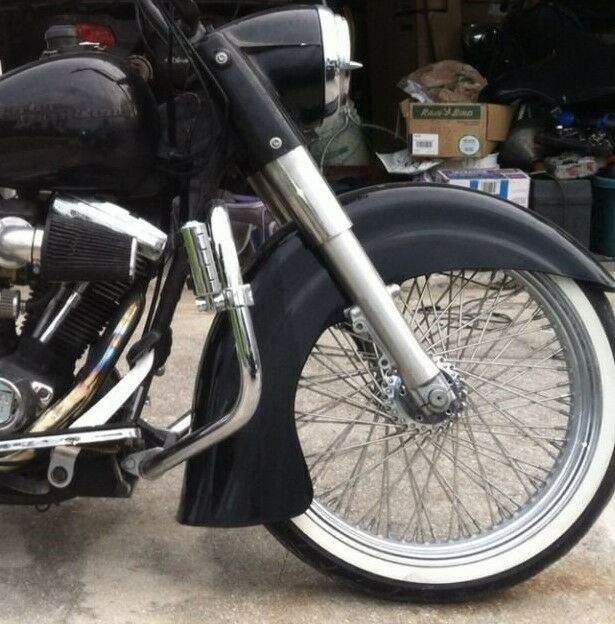 Harley Davidson Front Fenders : Harley davidson quot inch indian style fiberglass front