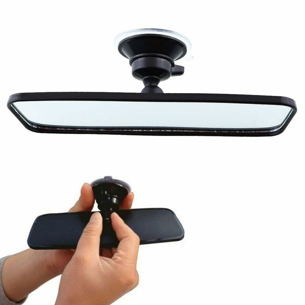 200mm wide angle flat car care truck interior rearview rear view mirror suction ebay. Black Bedroom Furniture Sets. Home Design Ideas