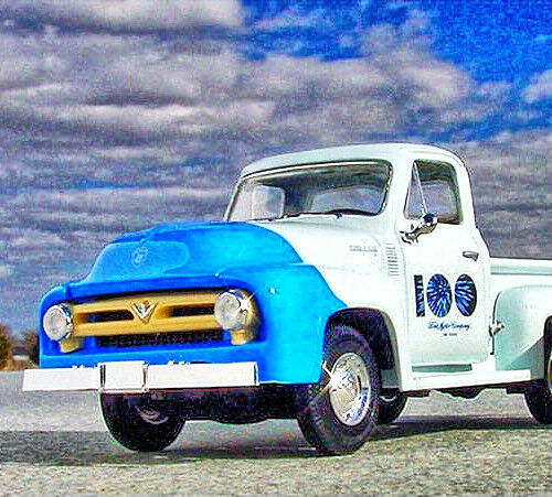 1953 F100 PICKUP With LOAD