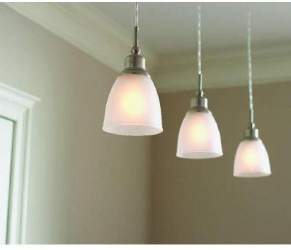 Brushed Nickel 1 Light Mini Pendant Hangin Ceiling Fixture Home Decor 3 Pack Ebay