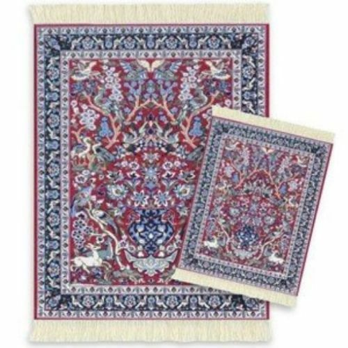 MOUSERUG MOUSE PAD & COASTER RUG SET TREE OF LIFE RUGS