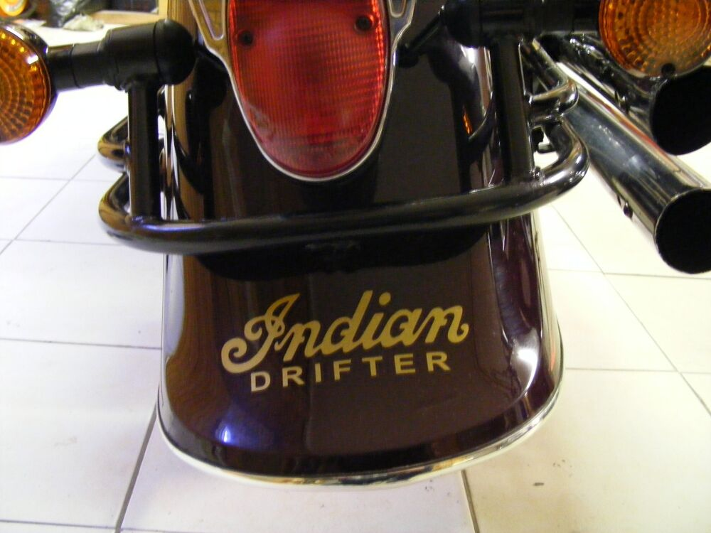 Front or rear fender back decal kawasaki drifter indian for Ebay motors indian motorcycles