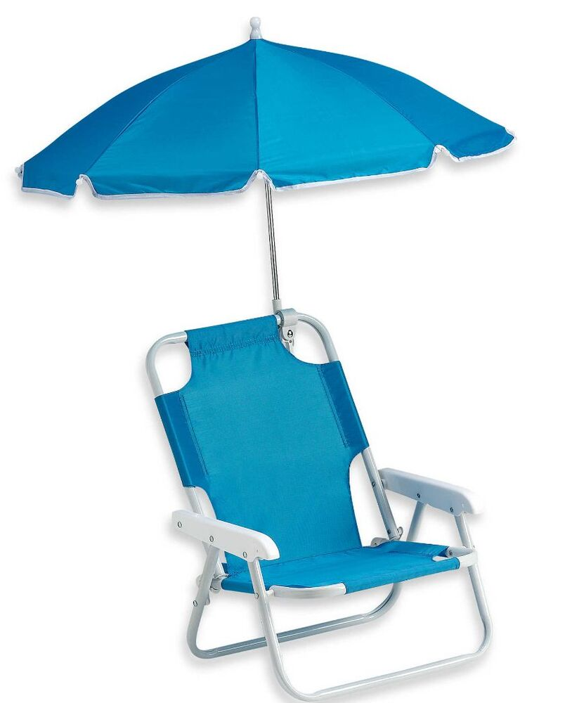 Blue baby beach chair umbrella outdoor kids shade new for Lawn chair with umbrella