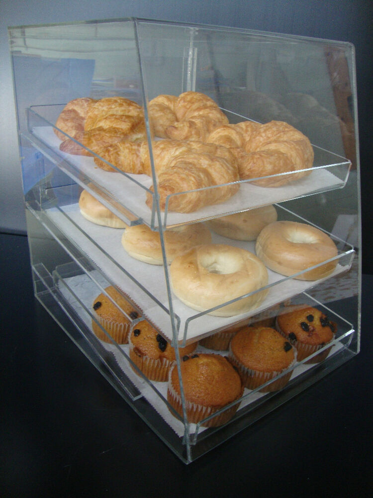Acrylic Pastry Bakery Donut Cupcake Stand Display Case