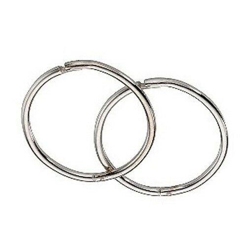 Details About 9ct White Gold 14mm Hinged Hoop Sleeper Earrings Made In Uk