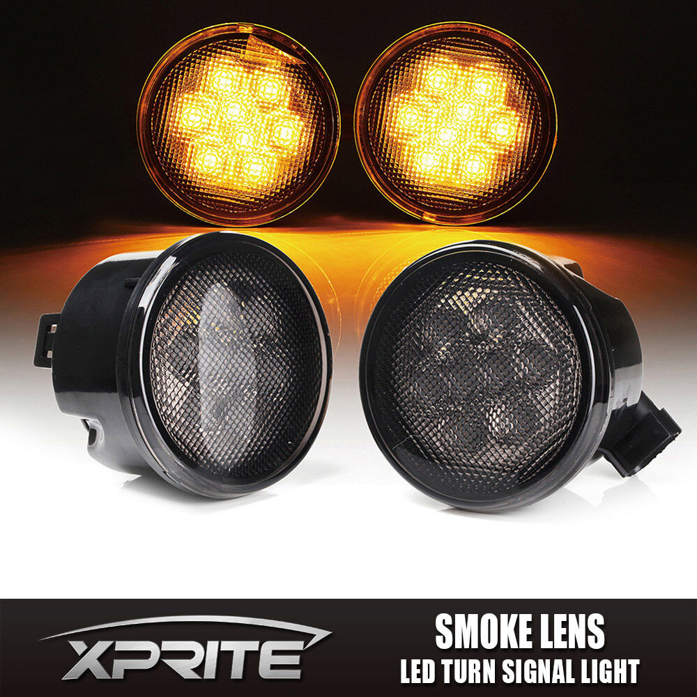 Xprite Led Turn Signal Light Assembly With Smoke Lens For