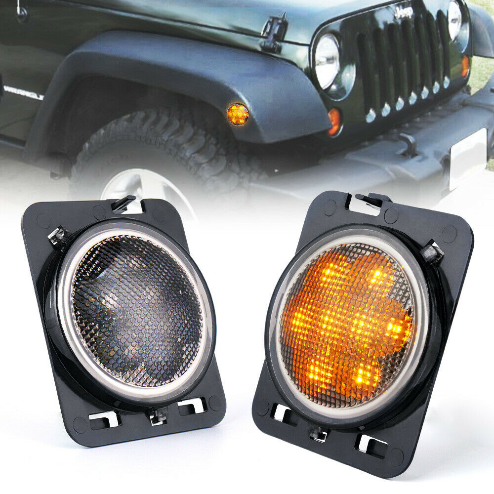 Xprite Front Fender Led Side Marker Light Smoke Lens For
