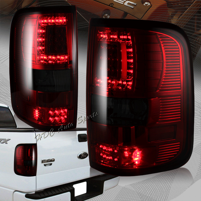 2008 ford f 150 f150 styleside body red smoke led rear tail lights. Black Bedroom Furniture Sets. Home Design Ideas