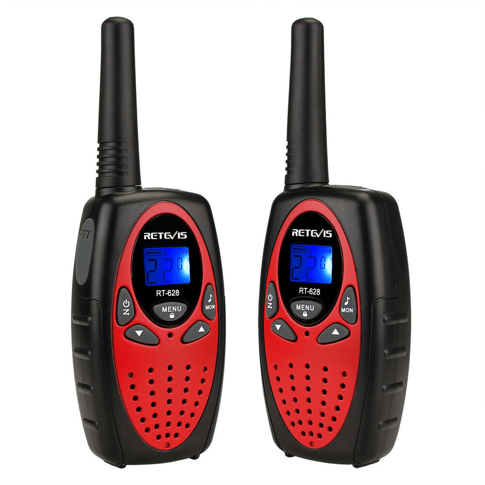 2x red mini retevis rt628 radio for girls uhf 22ch lcd. Black Bedroom Furniture Sets. Home Design Ideas