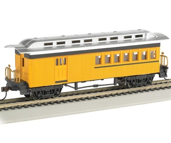 bachmann 13503 ho 1860 1880 combine painted unlettered yellow passenger car ebay. Black Bedroom Furniture Sets. Home Design Ideas