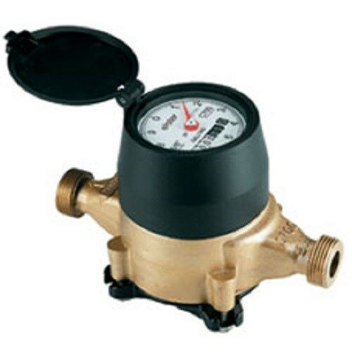 water meter elster amco 3 4 x 3 4 low lead bronze direct read cf poly housing ebay. Black Bedroom Furniture Sets. Home Design Ideas