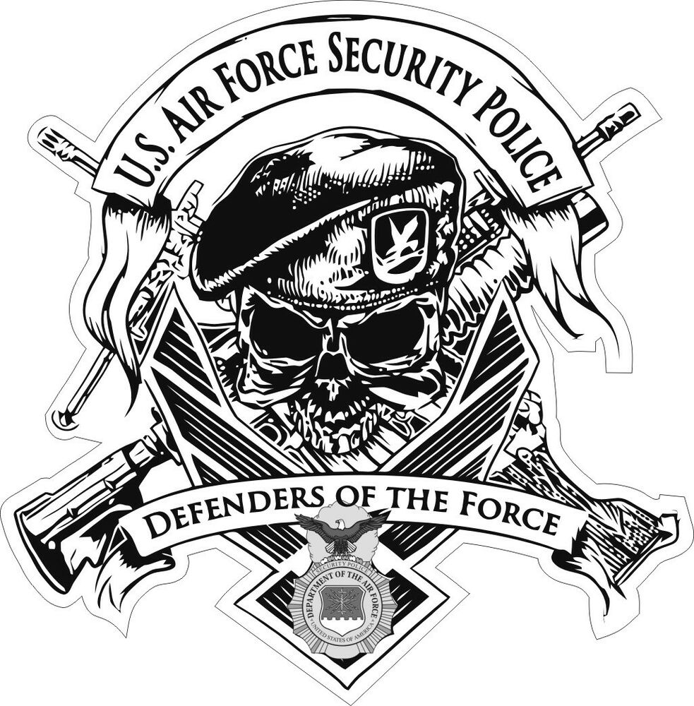 U S Air Force Usaf Security Police Decal Sticker Ebay