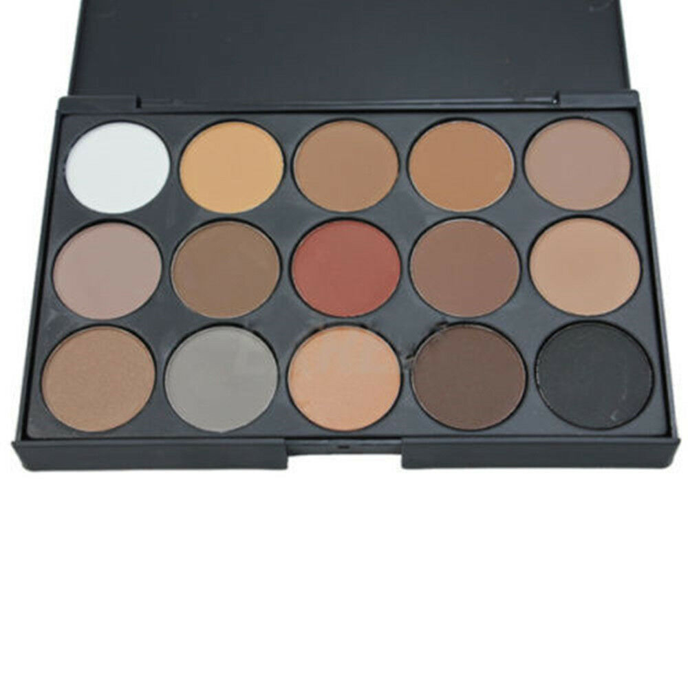 New 15 colors neutral warm eyeshadow palette shimmer eye for Warm neutral color palette
