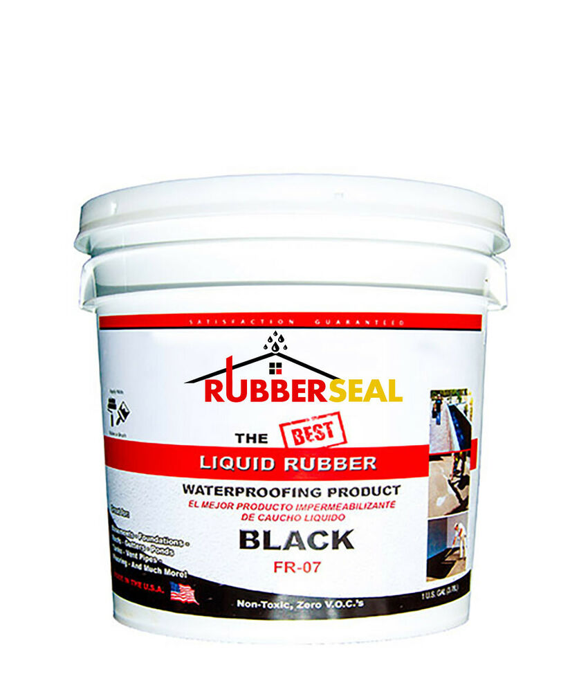 Rubberseal Liquid Rubber Waterproofing Roll On Black 1