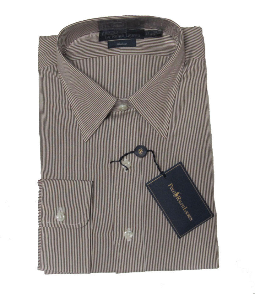 $145 Polo Ralph Lauren Mens Brown Striped Andrew Classic ...
