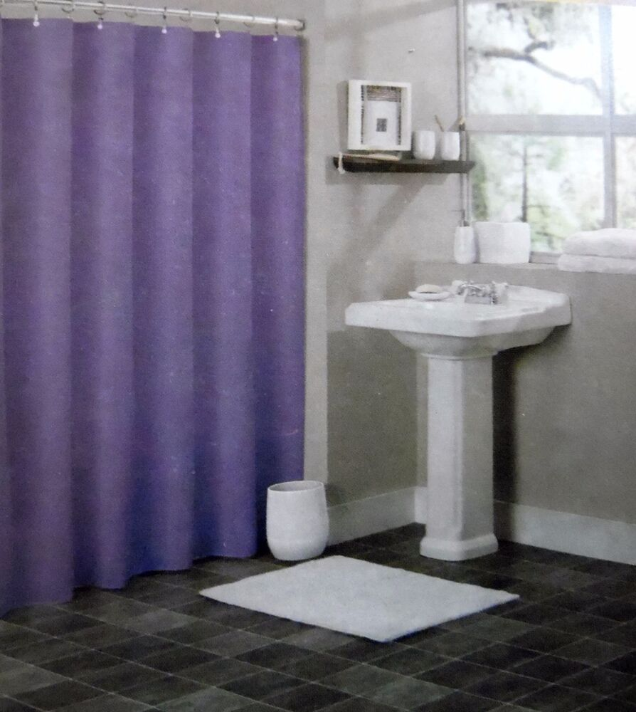 SOLID PURPLE BATHROOM VINYL PLASTIC SHOWER CURTAIN LINER