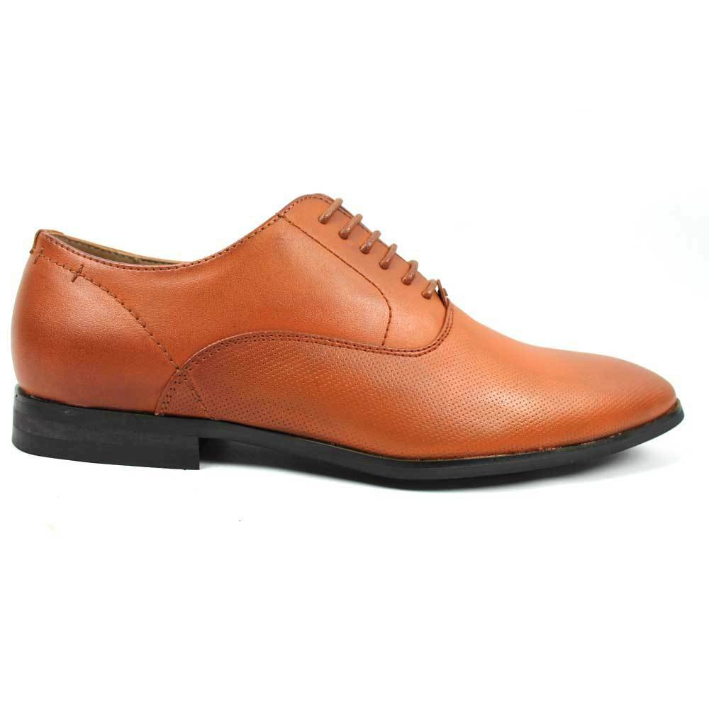 new mens pointed toe dotted design dress shoes lace up