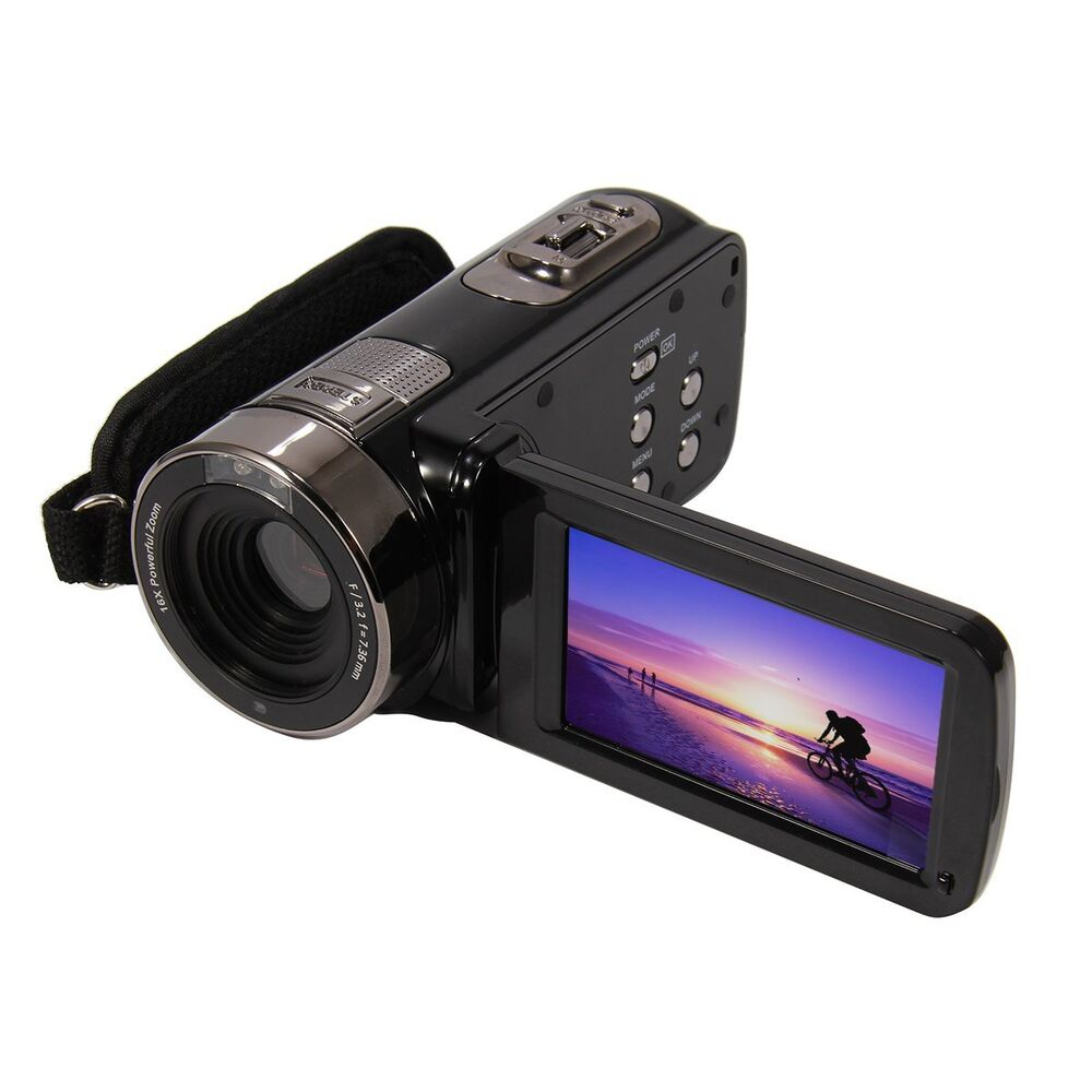 3 0 tft lcd 16x digital zoom video camcorder 24mp full hd 1080p black dv camera ebay. Black Bedroom Furniture Sets. Home Design Ideas