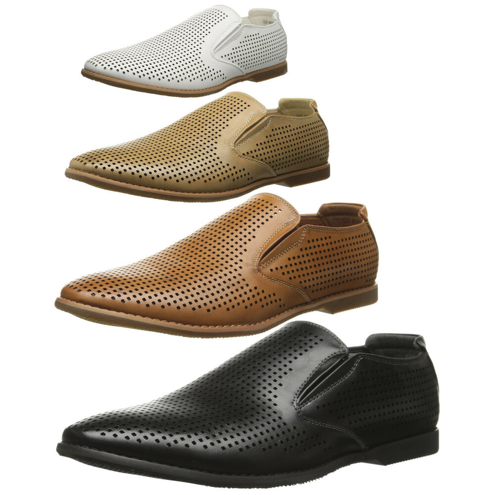 Mens Perforated Leather Shoes
