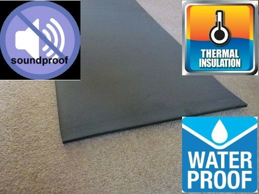 Mouse Proof Insulation : Black sound proofing heat insulation sheet closed cell