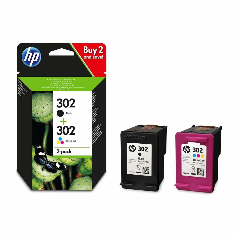 hp 302 black colour genuine original ink cartridge for envy 4523 printer ebay. Black Bedroom Furniture Sets. Home Design Ideas