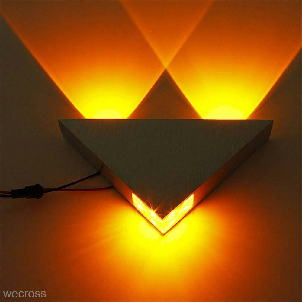 Indoor Home Lighting LED 3W Porch Decor Wall Lamp Triangle