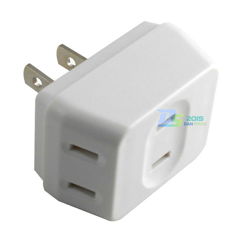 Split 1 Way Outlet Into A 3 Way Outlet Us Plug Wall Power