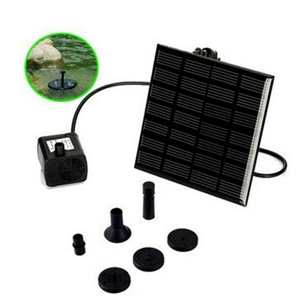 Solar power fountain water floating submersible pump panel for Garden pool fountains