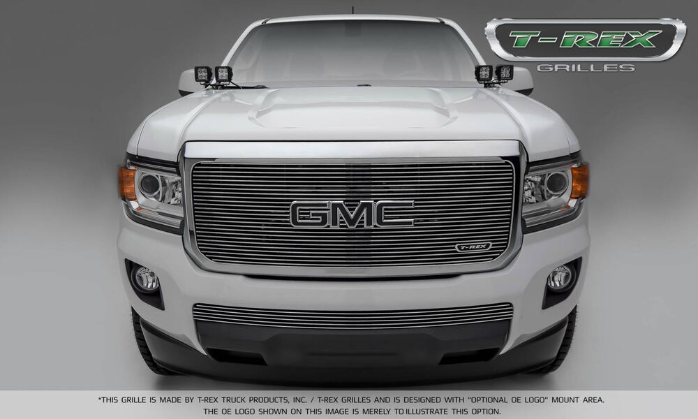 2015 2016 GMC CANYON 2PC POLISHED BILLET GRILLE GRILL T-REX | eBay