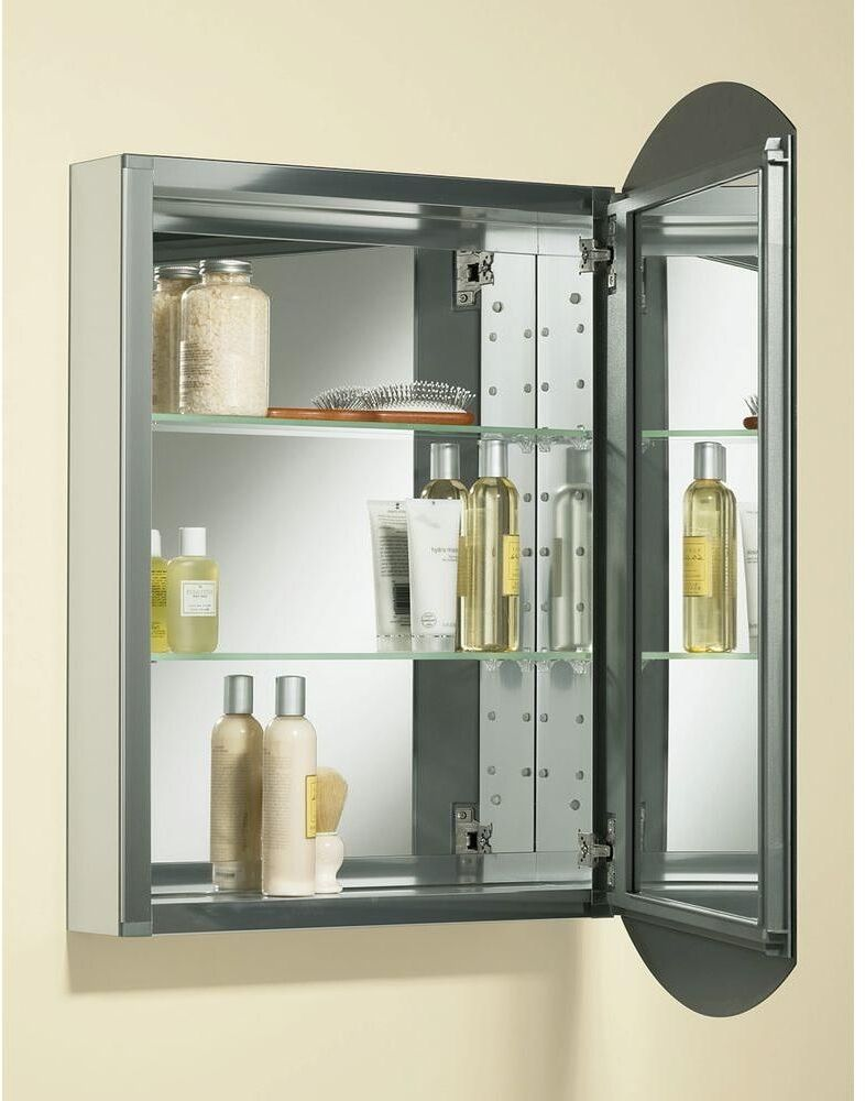 recessed mirrored bathroom cabinets kohler recessed medicine cabinet 20 quot x31 quot mirror shelves 25125