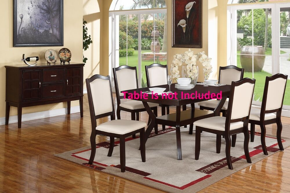 contemporary dining room chair | Dining Room Contemporary Dining Chairs Cream upholstered ...