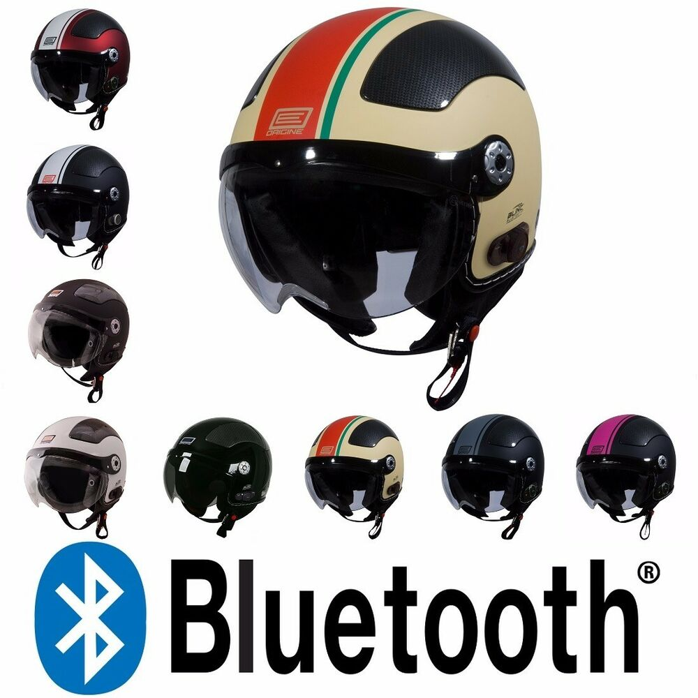 Origine Pilota O528B Blinc Bluetooth 3/4 Open Face Motorcycle Scooter Helmet DOT  | eBay