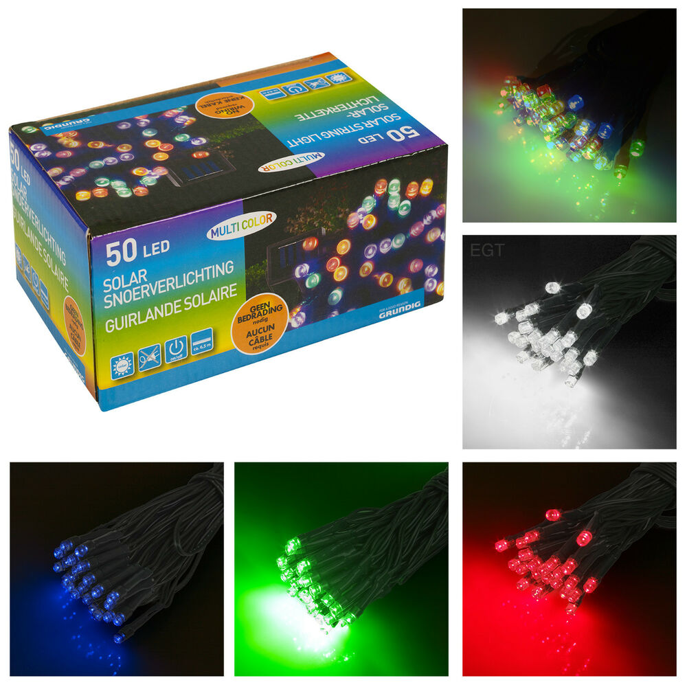 50 LED Garden Party String Solar Operated Bright Outdoor
