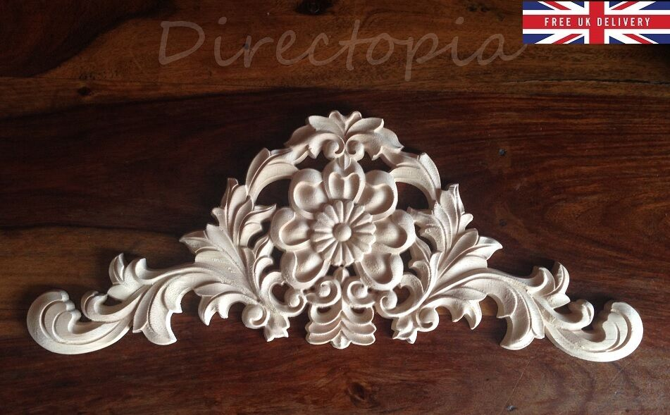 Cm large flower exquisite classic wood carved centre