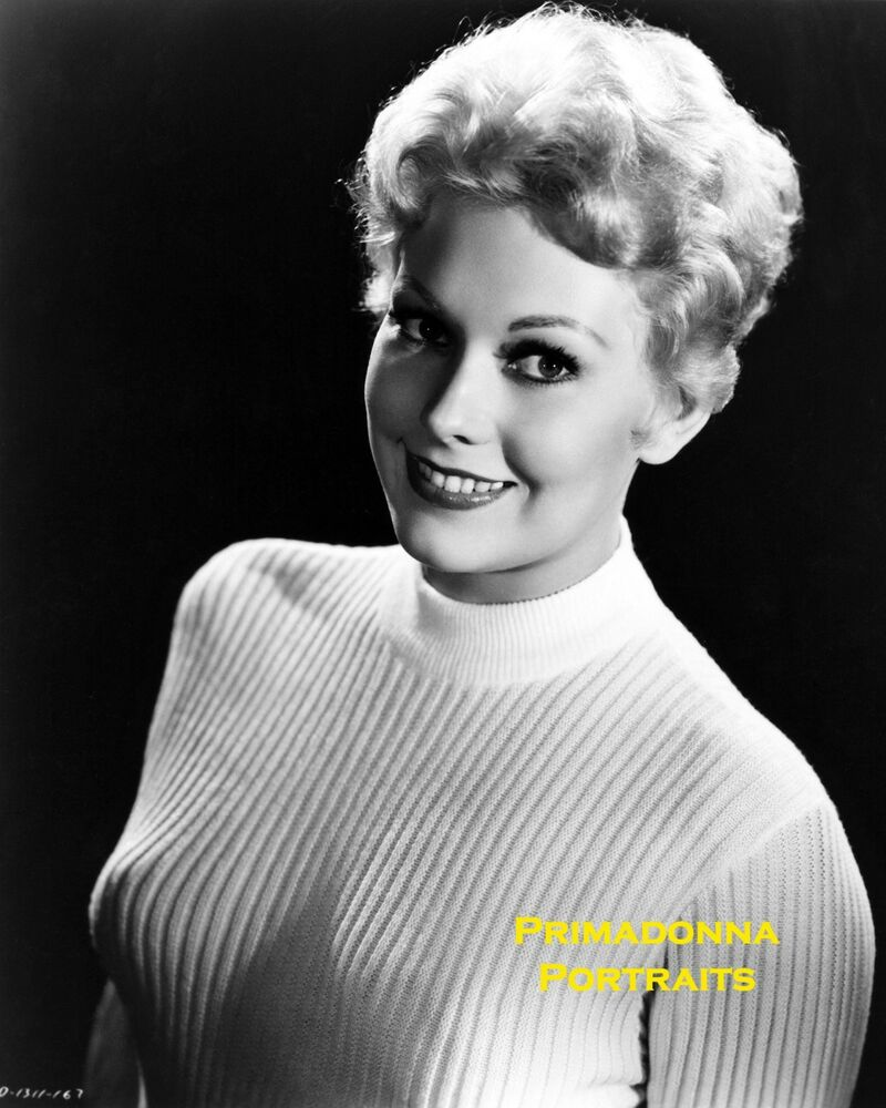 Kim Novak 8X10 Lab Photo 1950S Sexy Blonde Bombshell, Shapely Sweater Portrait  Ebay-9186