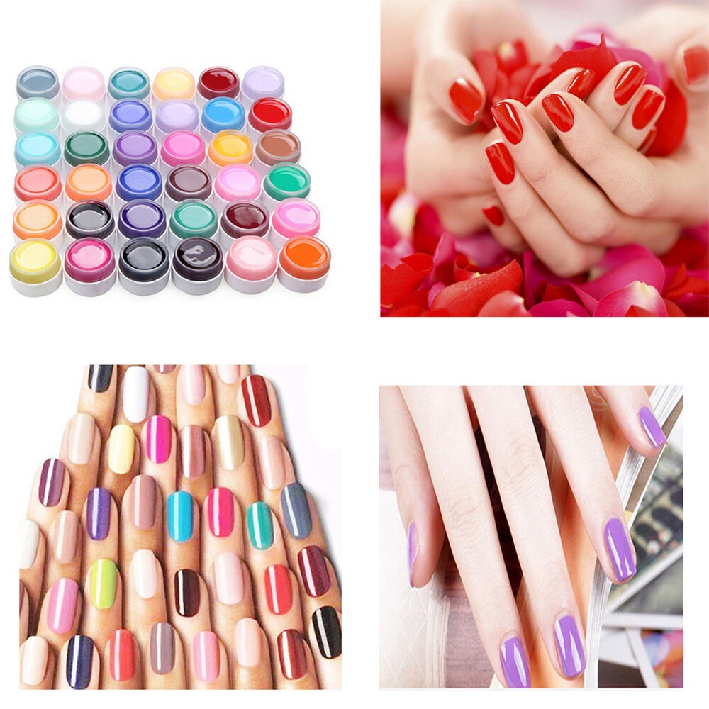 DIY UV Nail Polish Gel Decor For Nail Art Tips Manicure ...