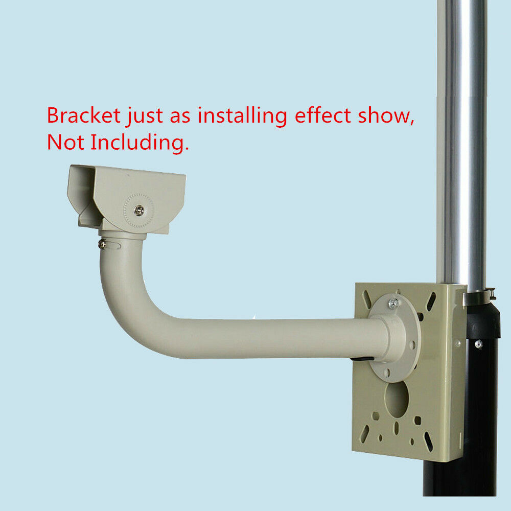 Pole mounting cctv camera bracket fence