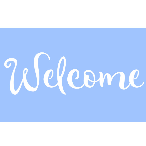 welcome stencil stencils word paint craft template