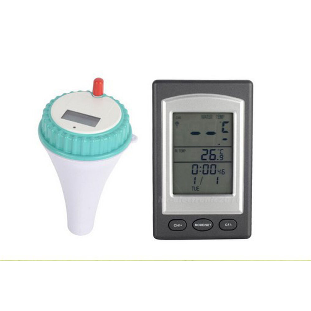 Wireless digital swimming pool spa floating thermometer water temperature ebay for What temperature should a swimming pool be
