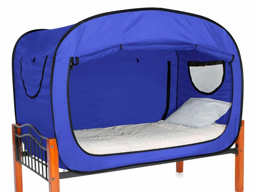 Blue Privacy Tent For Full Size Bed Sleep Relax Changing Interiors Inside Ideas Interiors design about Everything [magnanprojects.com]