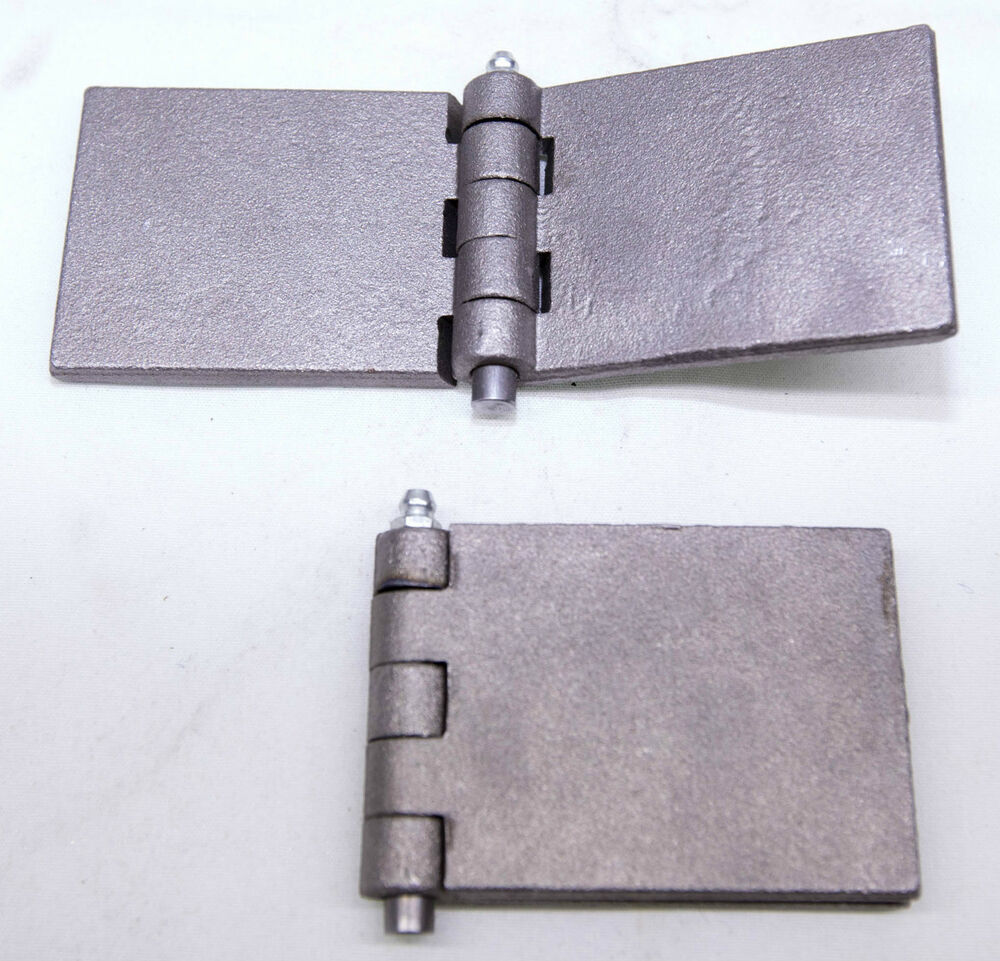 2 X Heavy Duty Steel 6 2mm Thick Weld On Hinge With