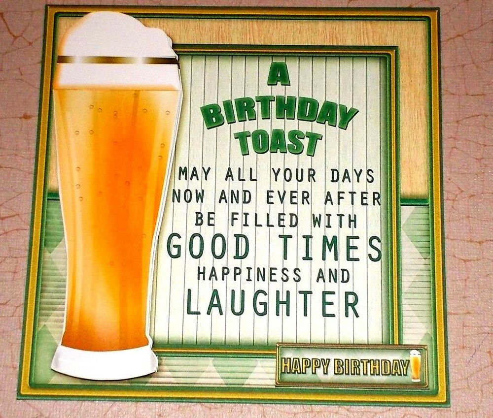 Handmade Greeting Card 3D Birthday With Beer And A
