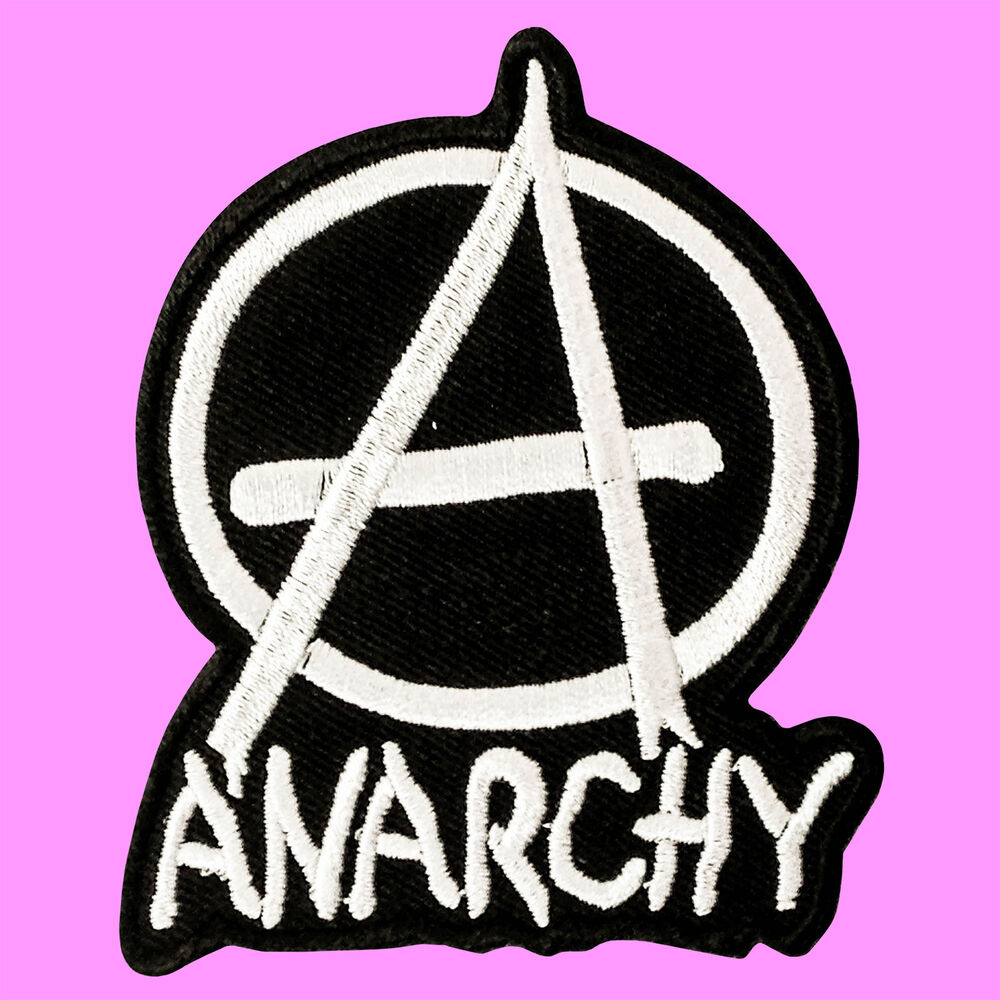 Anarchy symbol punk rock music biker a logo iron on embroidered anarchy symbol punk rock music biker a logo iron on embroidered patch ebay buycottarizona Gallery