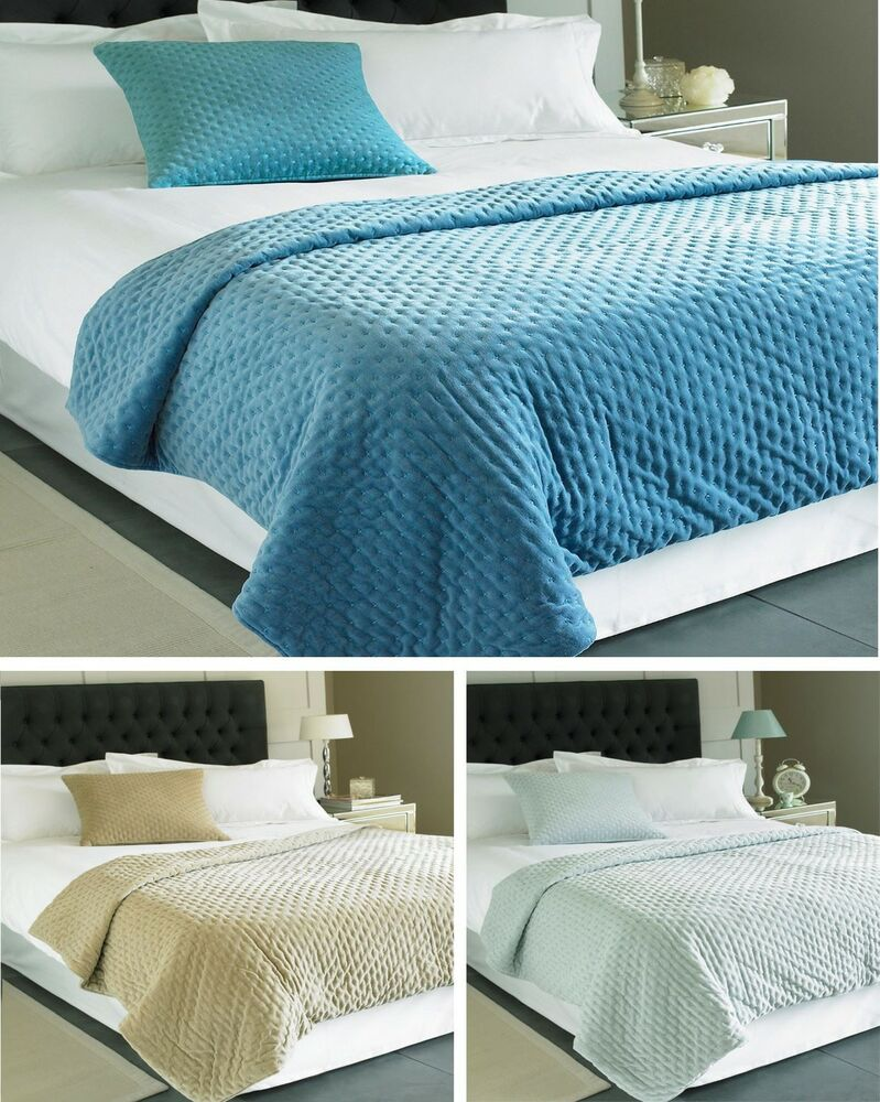 Gray Velvet Coverlet : Cotton velvet throw over throwover luxury bedspread