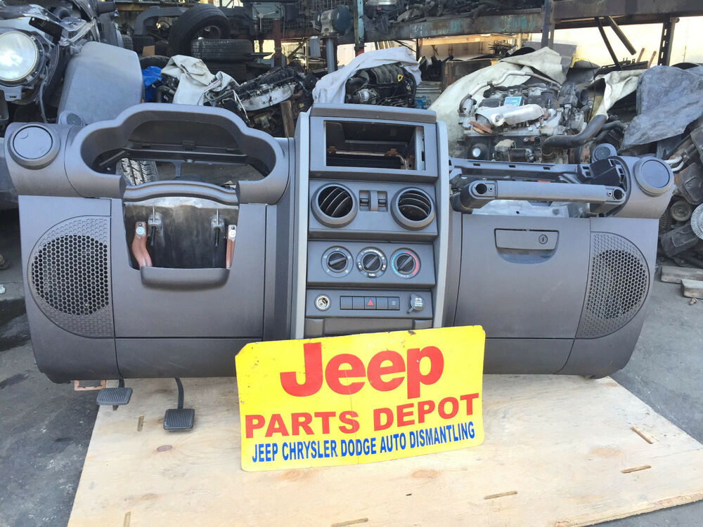2007 10 Jeep Wrangler Jk Dash Assembly Ac Deck Climate Charcoal Gray Center Ebay