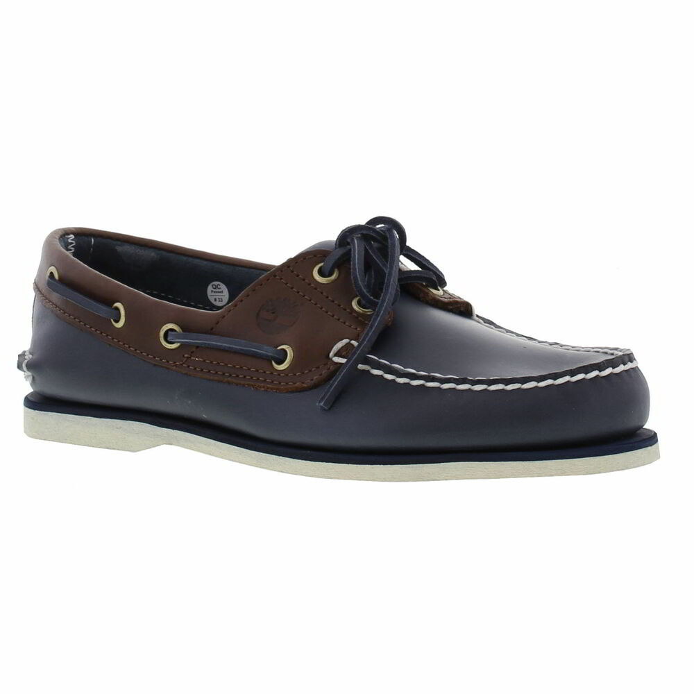 Timberland A16MJ Classic Mens Deck Boat Shoes Blue Dark