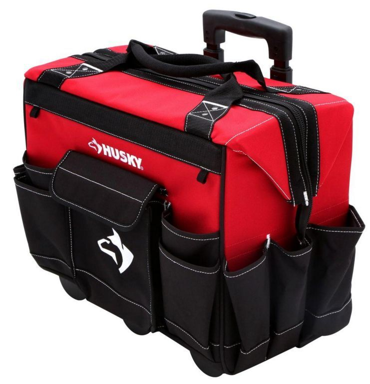 New 18 Quot Rolling Tool Bag Tote Storage Portable Wheels