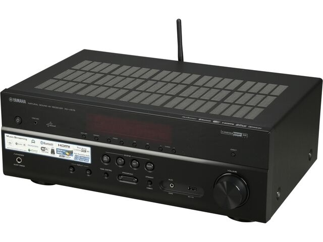Yamaha rx v579 7 2 channel network av receiver with built for Yamaha tv receiver