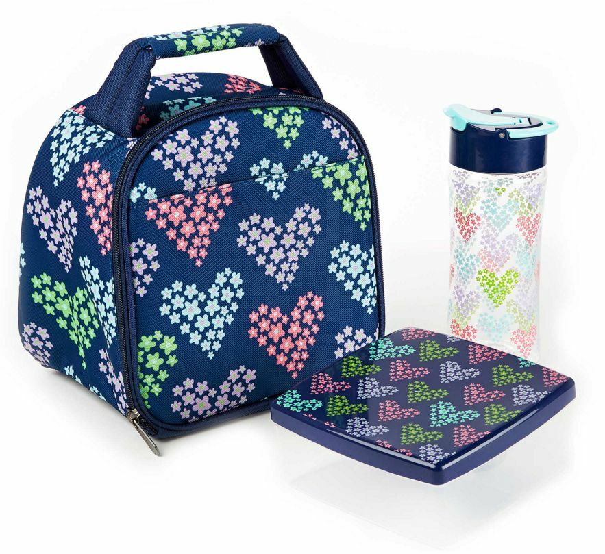Cute Lunch Bag Kit Tote Box Container Bottle Insulated