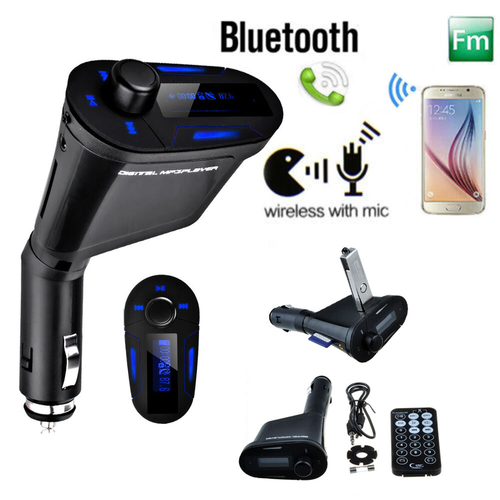 wireless bluetooth fm transmitter car kit mp3 stereo. Black Bedroom Furniture Sets. Home Design Ideas